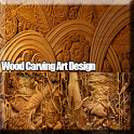 Wood Carving Art Design icon