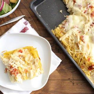 White Spaghetti Pizza Bake