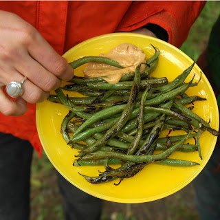 Fire-Charred Green Beans with Cajun Dipping Sauce