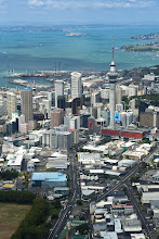 Photo: Here's an aerial view of downtown Auckland. I took this from a flyby in a World War II Catalina - a two engined amphibious flying boat. The plane is owned by a club and they make a few flights each year that it is possible to be part of if you contact them far enough in advance. It's an amazing experience and an opportunity to get a very unique view of Auckland and the Hauraki Gulf.  If you're interested in finding out more feel free to ask me, or take a look at their website: http://www.catalina.org.nz/