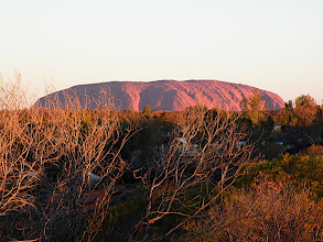 Photo: Uluru from the Campground lookout at sunset