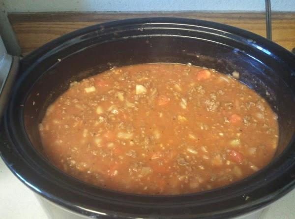 Candy's Crockpot Small Block Spaghetti Recipe