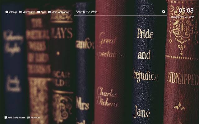 Classic Books обои Hd New Tab Theme