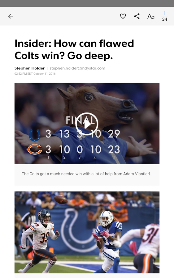 IndyStar Colts XTRA- screenshot