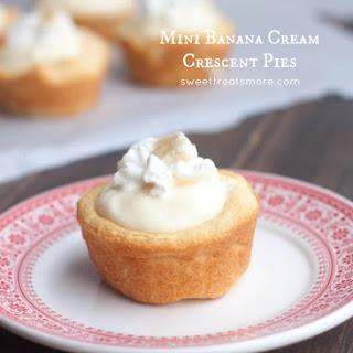 Mini Banana Cream Crescent Pies.