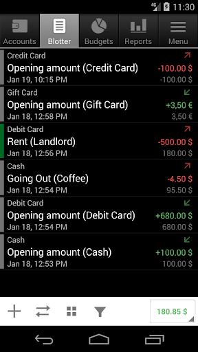 Financisto screenshot 3