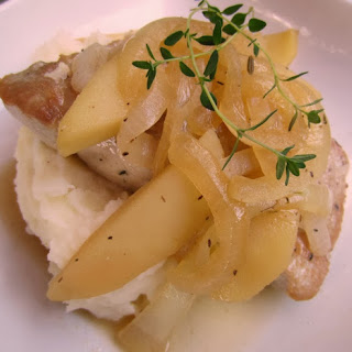 Pork Chops with Brandied Apples and Onions Recipe