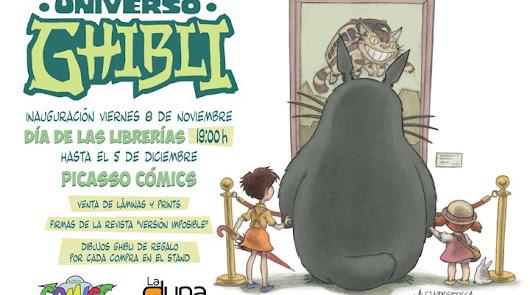 Cuentacuentos en PICASSO y Universo Ghibli de La Duna en el Día de las Librerías