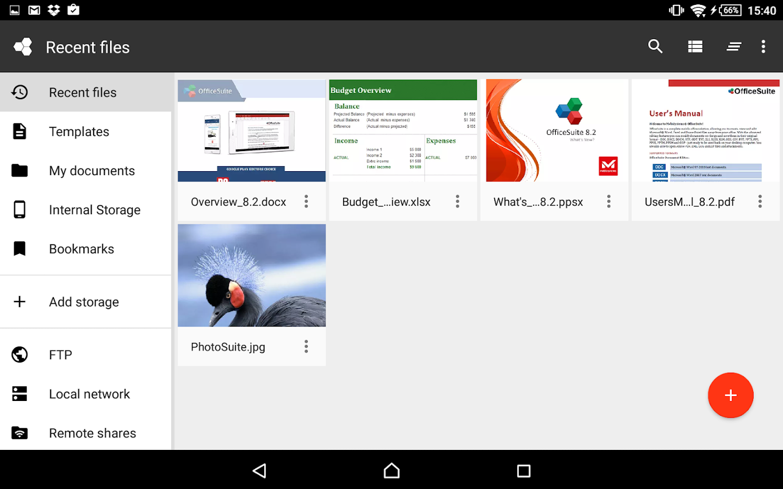 OfficeSuite 8 Pro + PDF - screenshot