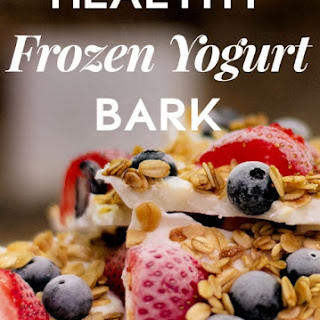Healthy Frozen Yogurt Bark