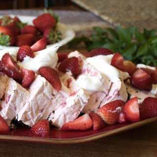 Cool Strawberry Whipped Dessert.