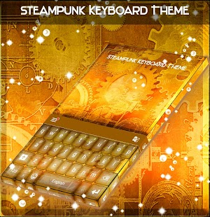 Steampunk Keyboard Theme - náhled