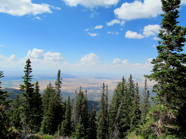 View northeast toward Fillmore from the summit of Mine Camp Peak