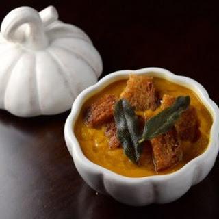 Autumn Squash Soup with Multigrain Croutons and Crispy Sage