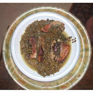 Braised Pork and Lentils