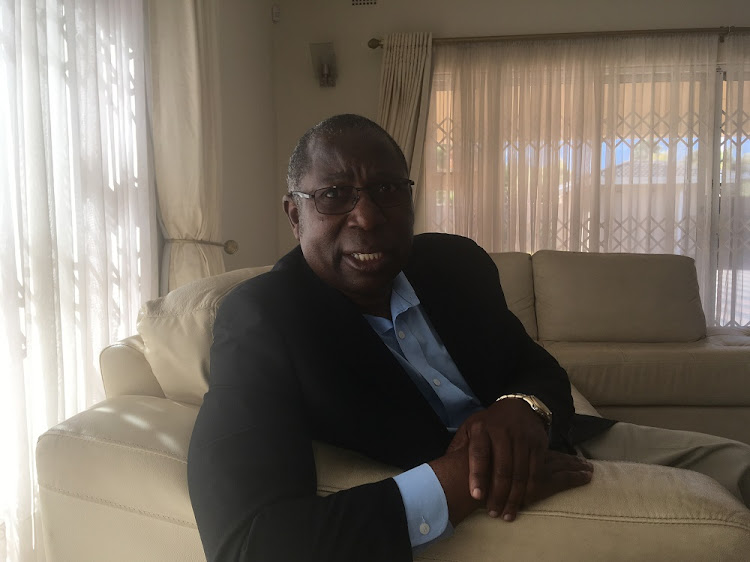 Elton Mangoma, president of the Coalition of Democrats during an interview at his Mount Pleasant home on Monday after he had voted in the country's harmonized elections.