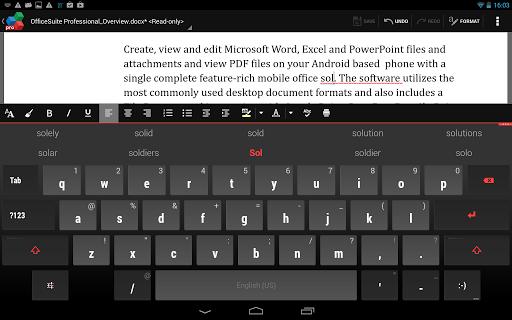 OfficeSuite QuickWrite screenshot 2