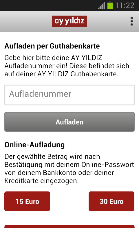 AY YILDIZ Prepaid- screenshot