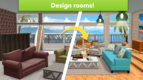 Home Design Makeover Mod Apk (Unlimited Money/Tickets) 3.2.4g 6