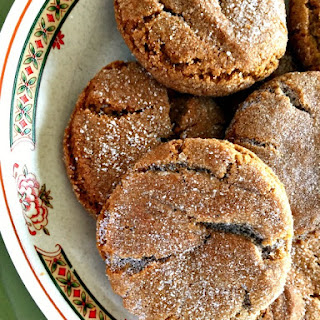 Old-Fashioned Molasses Sugar Cookies.