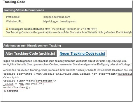 GoogleAnalyticsAlterNeuerTrackingCode