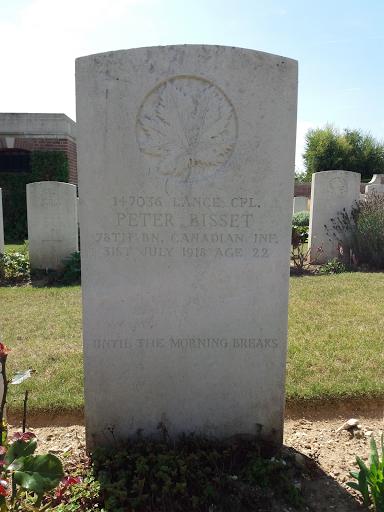 Peter Bisset grave