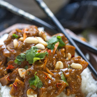 Slow Cooker Thai Peanut Chicken.
