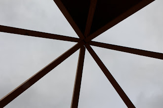 Photo: Cupola roof framing--I pause to eat half and sandwich, and I've already lost my shot! (no complaints)
