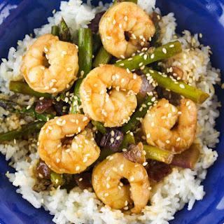 Quick Teriyaki Shrimp and Asparagus