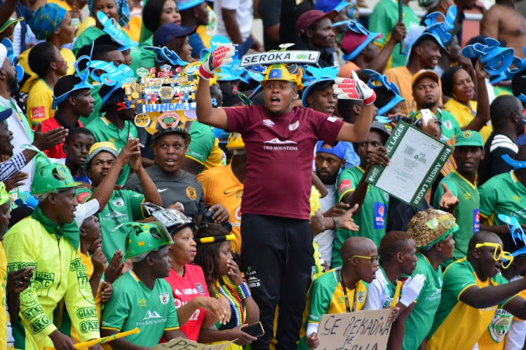 Baroka fans during the Telkom Knockout semifinal between Baroka FC and Bidvest Wits at Peter Mokaba Stadium on November 25 2018 in Polokwane, South Africa.