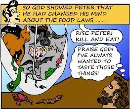 Photo: So God showed Peter that He had changed His mind about the food laws.