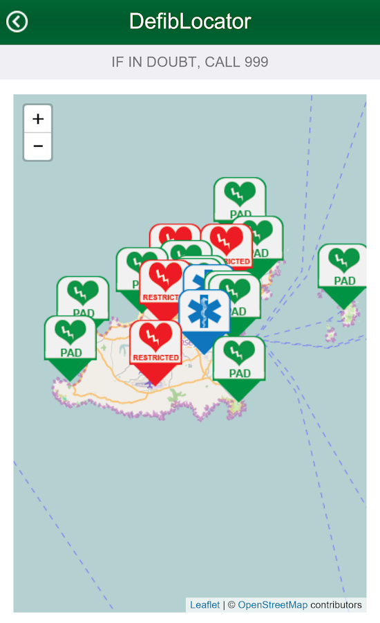 Defib Locator Guernsey- screenshot