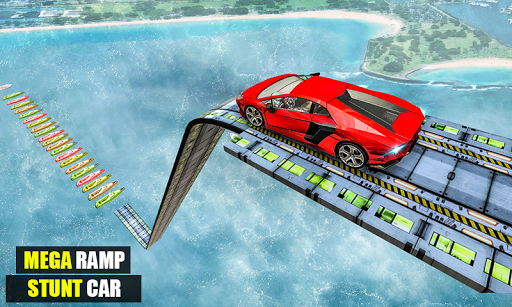 Mega Ramp Impossible Car Jump Over The Airplane screenshots 4