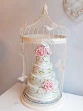 Photo: Love birds hand painted cake by The Cute Cupcake Company - Gravesend Kent (6/7/2012) View cake details here: http://cakesdecor.com/cakes/17882