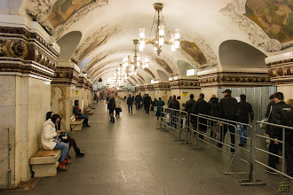 Photo: The Komsomolskaya metro station https://en.wikipedia.org/wiki/Komsomolskaya_(Koltsevaya_Line)