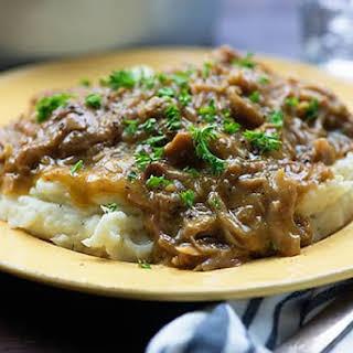 Pork Roast With Gravy In Crock Pot Recipes.