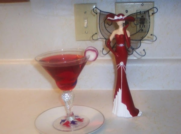 Shake and strain into a martini glass.Martini glass in the picture was painted by...