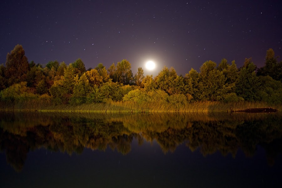Moonset by Charles Brooks - Landscapes Waterscapes