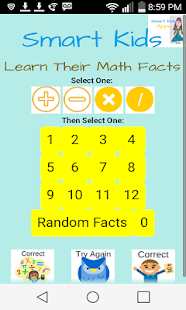 Smart Kids Learn Math Facts- screenshot thumbnail