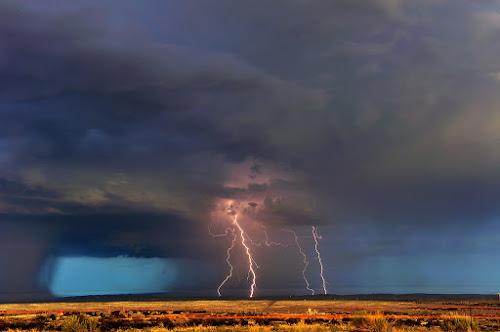 Plain Lightning by Brent Clark - Landscapes Weather ( thunder, clouds, lightning, utah, weather, landscape )