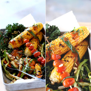 Grilled Vegetables with Roasted Tomato & Chili Vinaigrette Recipe