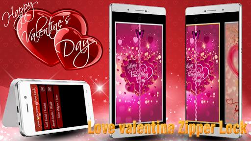 Love Valentine Zipper Lock