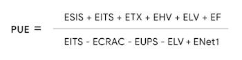 Equação da PUE para nossos data centers