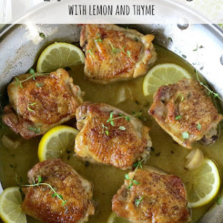 Crispy Chicken Thighs with Lemon and Thyme