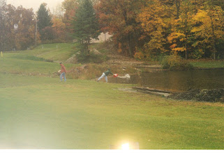 Photo: Stocking the lake with 100 White Amurs (2003) - Location: Segonia's Cove