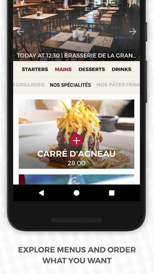 Apety · Order in advance at the restaurant- screenshot