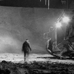 Night Shift by Goran Popović - Products & Objects Industrial Objects ( work, kolubara, miner, serbia, coal, worker, night, mine, lignite, pit mine, shift )