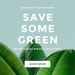 Some Save Green - President's Day item