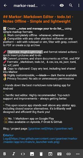 Markor: Markdown Editor - todo txt - Notes Offline by Gregor