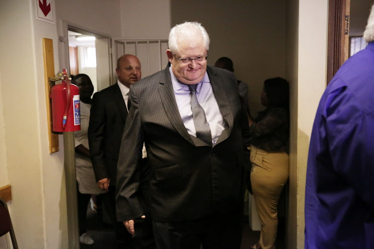 Former Bosasa chief operations officer Angelo Agrizzi appears at the specialised commercial crimes court in Pretoria on February 6 2019.